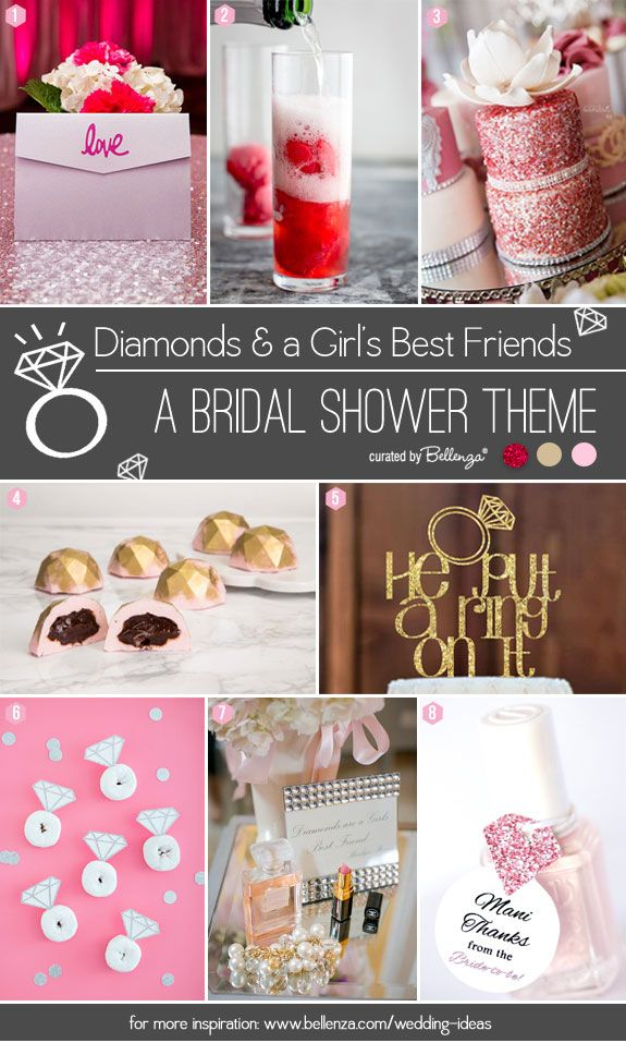 Diamonds And A Girls Best Friends Bridal Shower Theme Pinterest