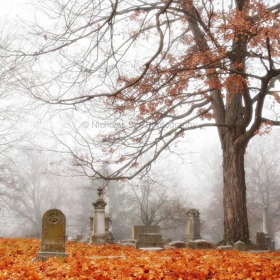 photography / cemetery graveyard fall gothic by ...