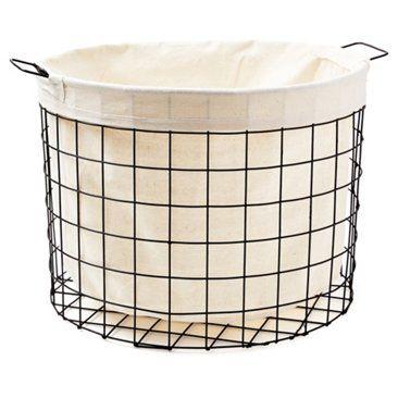Industrial Wire Bin Medium Home Home Goods Decor Laundry