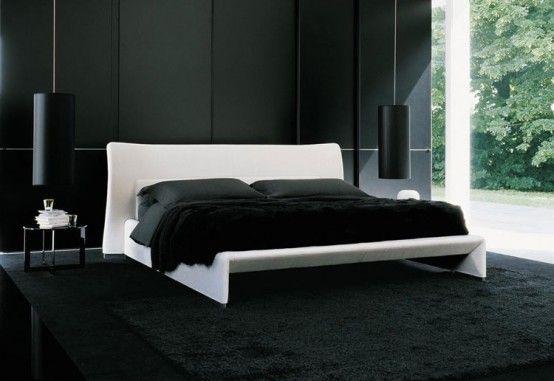Men S Bedroom Ideas For Masculine Room Look Fantastic Black Interior Mens Bedroom Ideas White Bed Quartos Pretos Quartos Masculinos Modernos Quartos Brancos