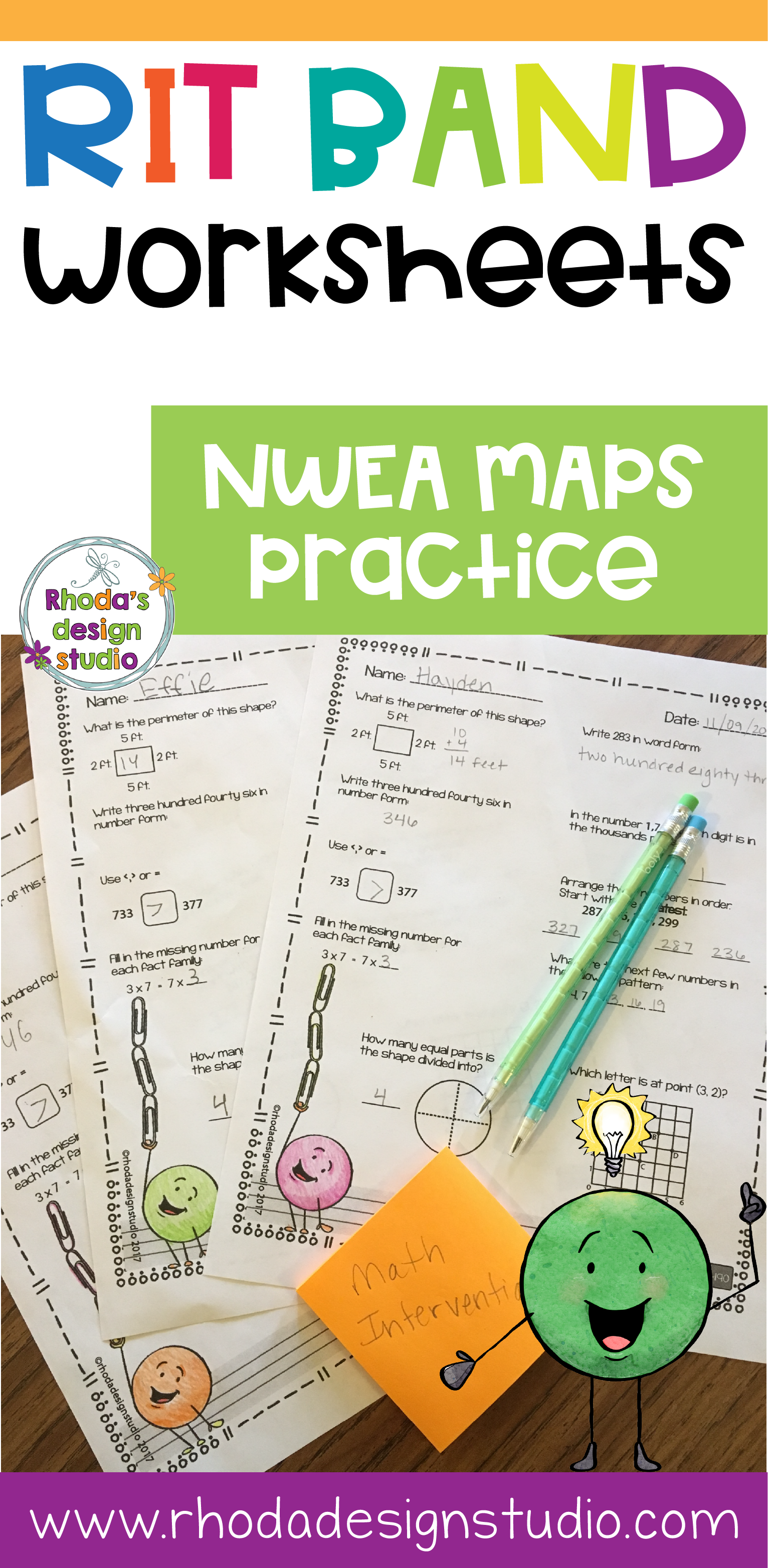 Nwea Map Task Cards That Can Be Used For Test Prep Or Math Interventions These Task Cards Cover Numbers And Operat Nwea Math Nwea Map Math Practice Worksheets