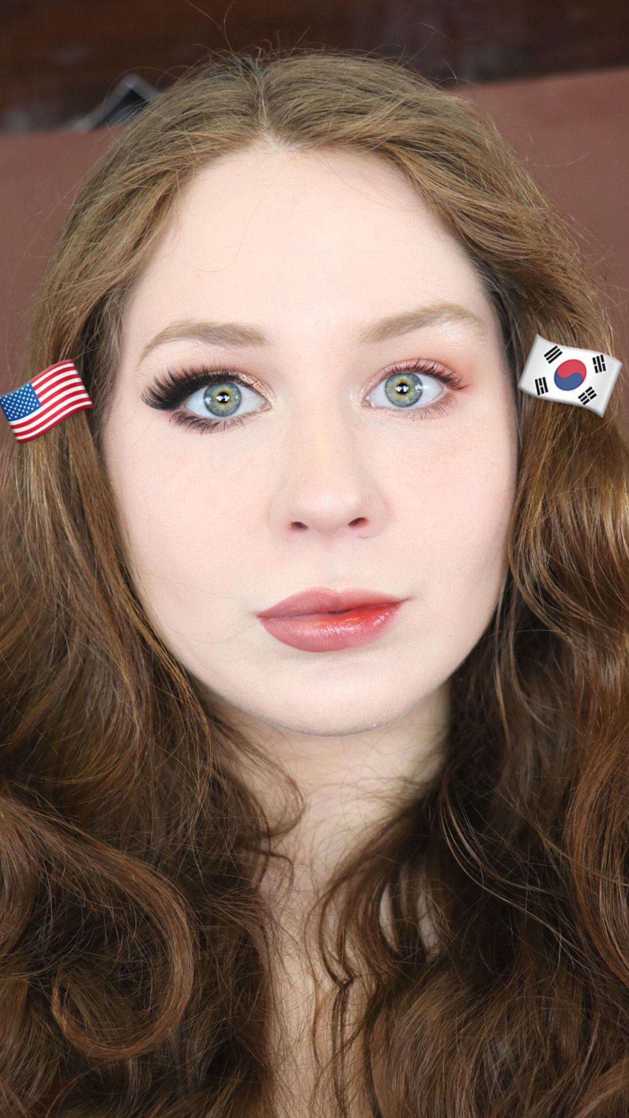 Korean Makeup VS American Makeup Tutorial 2020 Lillee