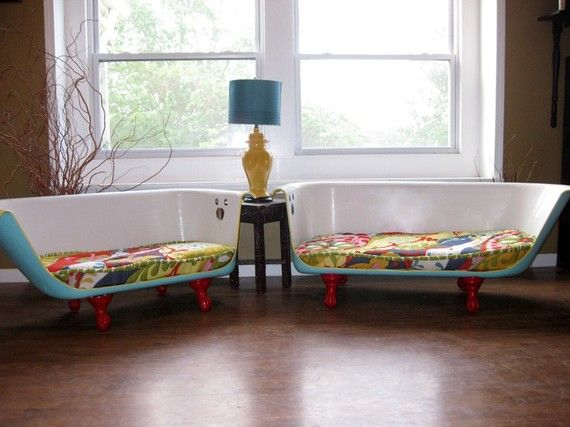 Recycled Bathtub Sofa   In The Hands Of Etsy Designers From Ruff House Art, Vintage  Cast Iron Bathtubs Become Fun And Funky Sofas. Photo