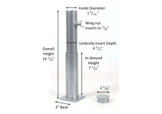 This Exclusive In Ground Slot Umbrella Stand Features 3 Piece