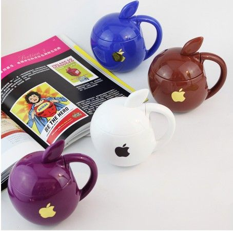 Free shipping+ 4pcs/lot New Arrival Lovely Apple Style Plastic Cup Mug Water Bottle 4 Colors Mixed $25.00