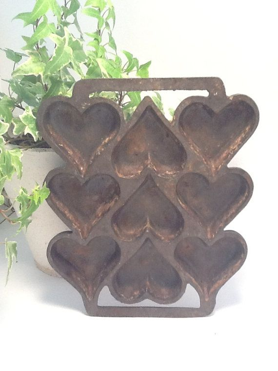 Primitive Kitchen` Rusty Life Size`Muffin Pan` With `Cut Out Stars`
