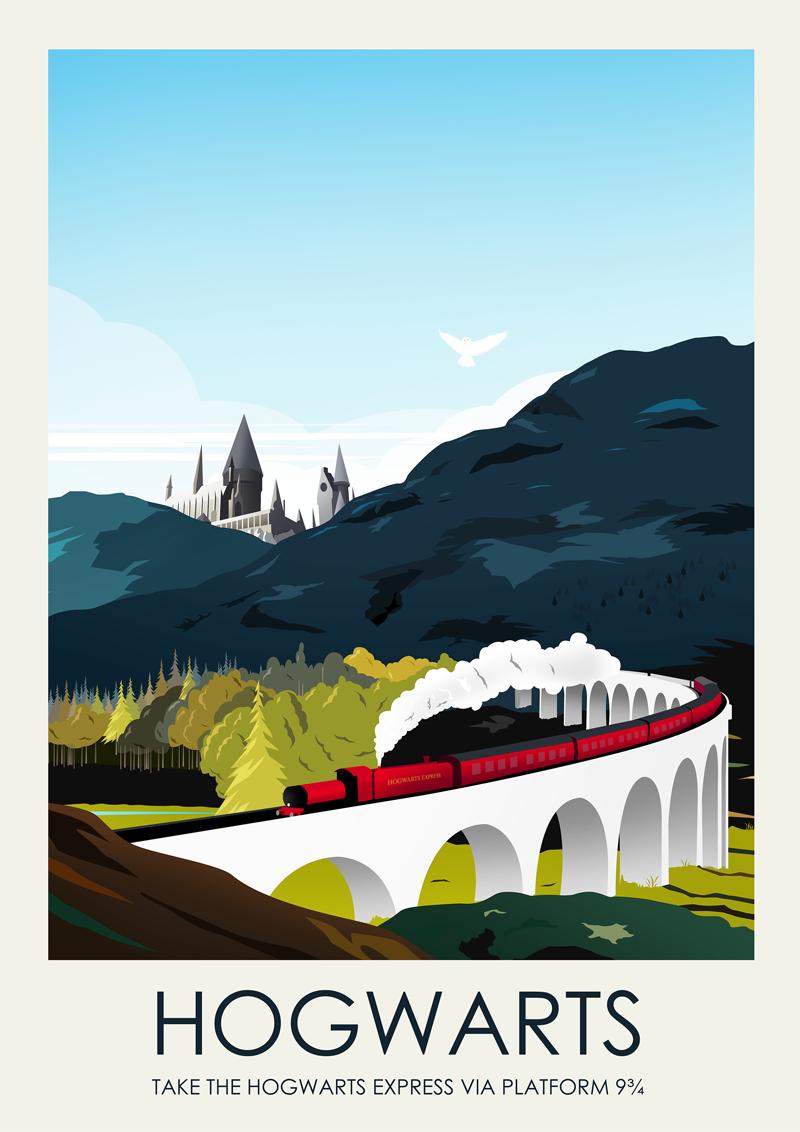 Framed 30 x 40 Official Print Harry Potter Hogwarts School