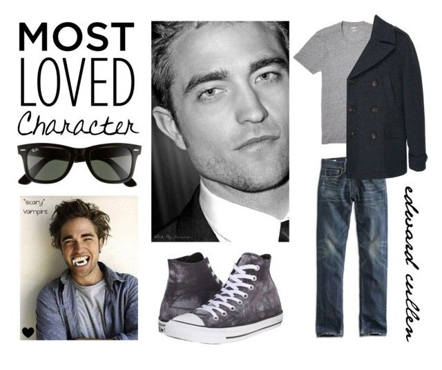"""""""Edward"""" by goingdigi ❤ liked on Polyvore featuring Ray-Ban, Bonobos, Lucky Brand, Converse, MANGO MAN, men's fashion and menswear"""