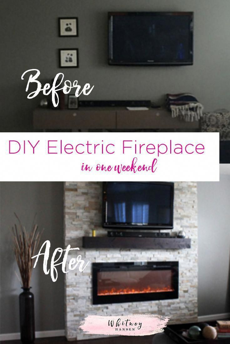 Diy electric fireplace in one weekend do it yourself home