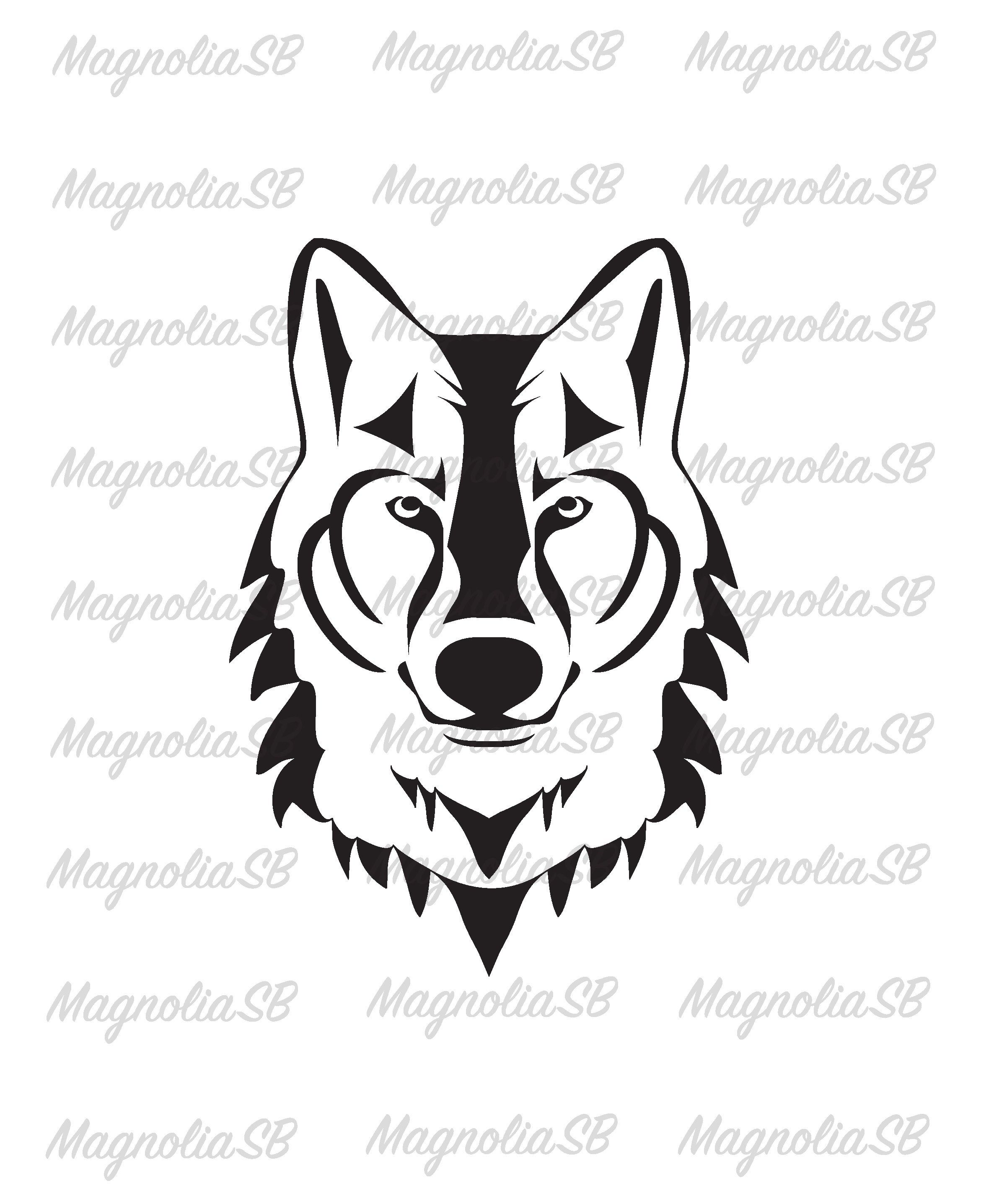 Wolf Head Silhouette Svg Wolf Dxf Wolf Silhouette Clipart Etsy Silhouette Svg Silhouette Clip Art Wolf Silhouette