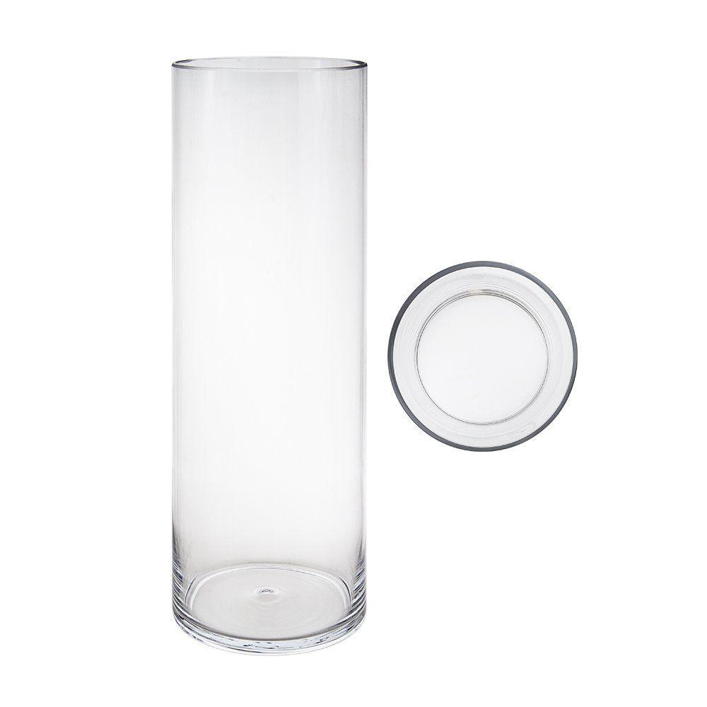 Mega vases 6 x 24 cylinder glass vase set of 1 clear mega vases x cylinder glass vase set of clear for more information visit image link floridaeventfo Image collections
