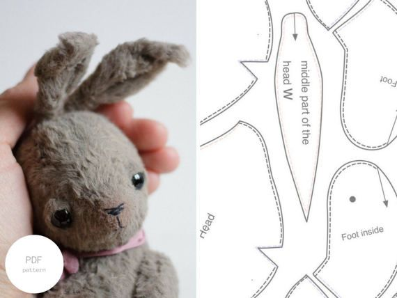 Make your own rabbit with our pdf sewing pattern & tutorial. It can ...