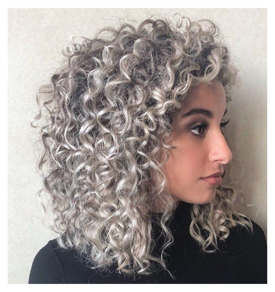 Pin By Jenny Cumbie Gentry On Hair Color In 2020 Curly Silver Hair Silver Hair Color Dark To Light Hair