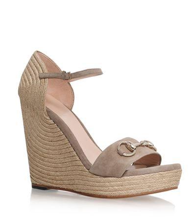 712141717ff0 GUCCI Carolina Espadrille Wedge Sandal.  gucci  shoes