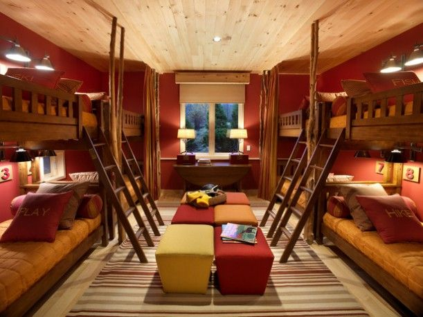 sweet bedroom with bunk beds! Ski Chalet Pinterest Sonstiges - schöner wohnen schlafzimmer gestalten