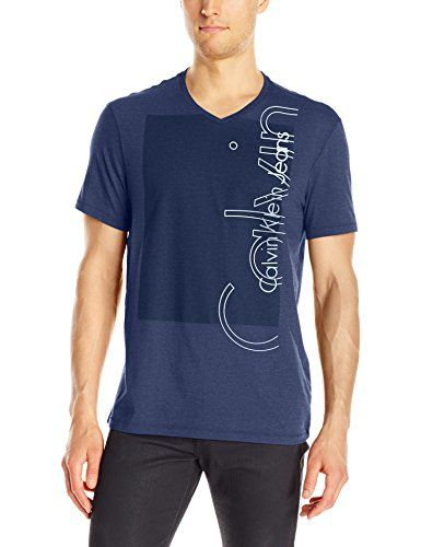 a5f3fec2482f4 Calvin Klein Jeans Men s Outline Ck Logo V-Neck T-Shirt, ... https ...