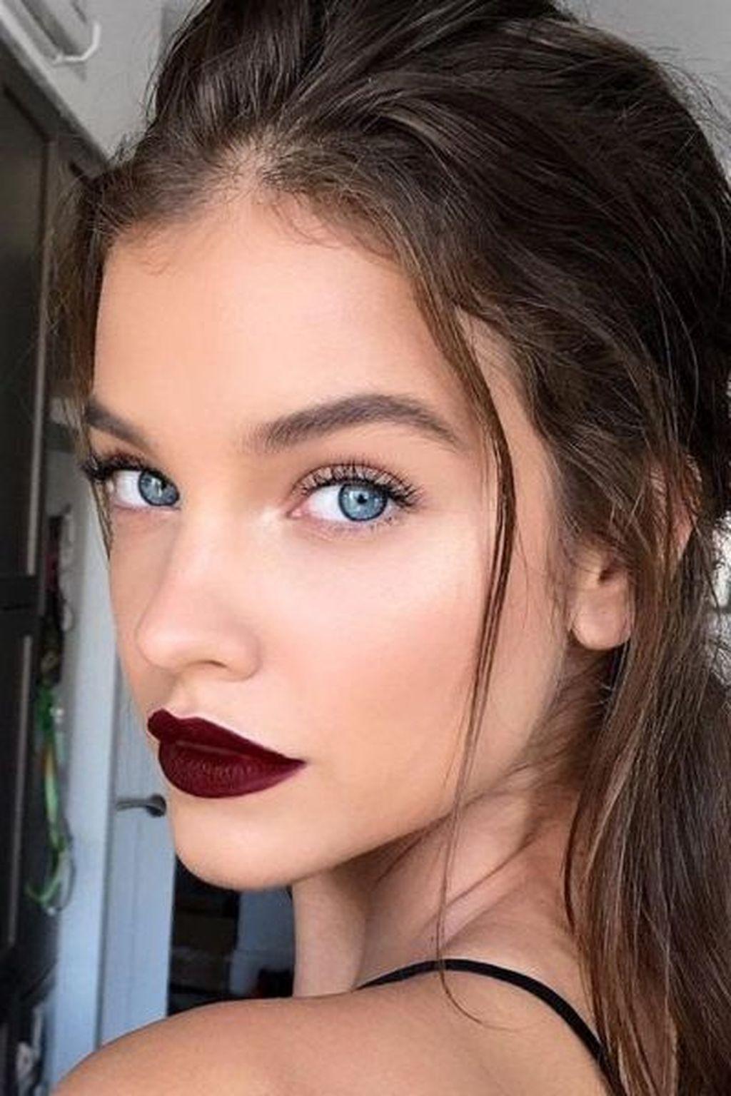 46 Simple Eye Makeup Ideas For Daily Work Burgundy