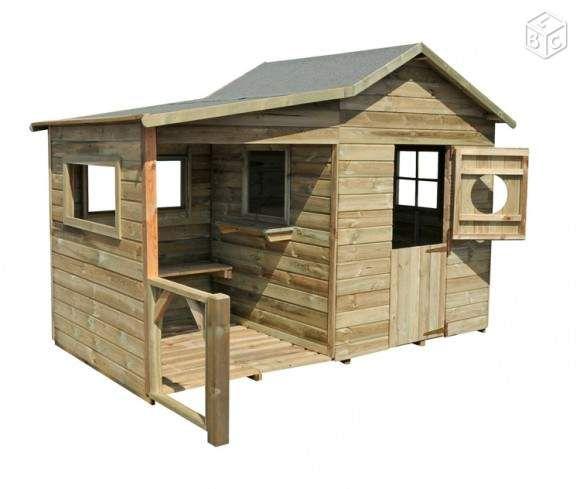 cabane en bois pour enfant jardinage
