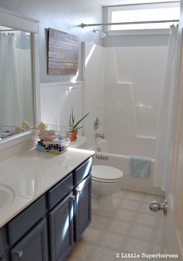 Builder Grade Bathroom Gets A Makeover With Paint