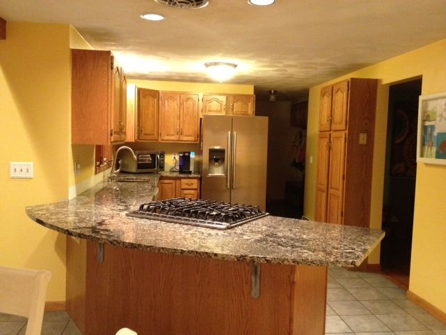 Best Yellow Walls With Oak Cabinets Not Loving This Color 400 x 300