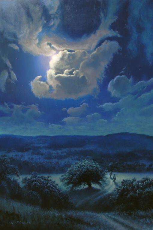Moon Shadows (painting by artist Layne Johnson)