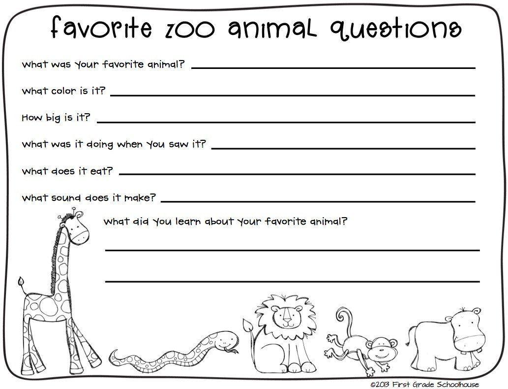 Zoo Field Trip Worksheet Field Trip Printable Worksheets