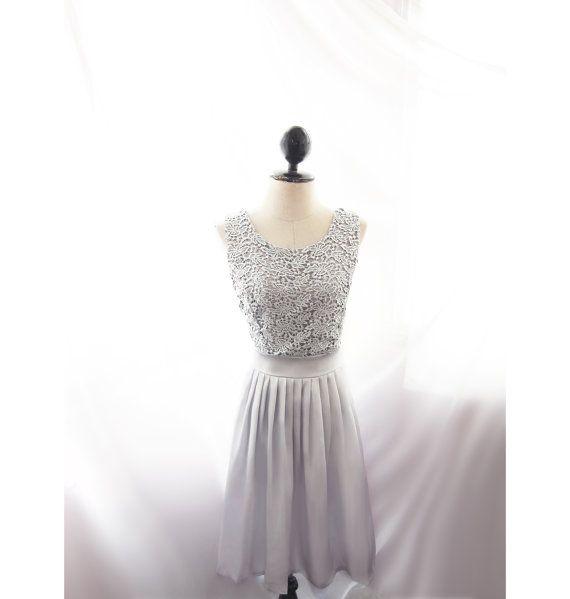 Graue Brautjungfer Kleid Cocktail Abendkleid von RiverOfRomansk ...