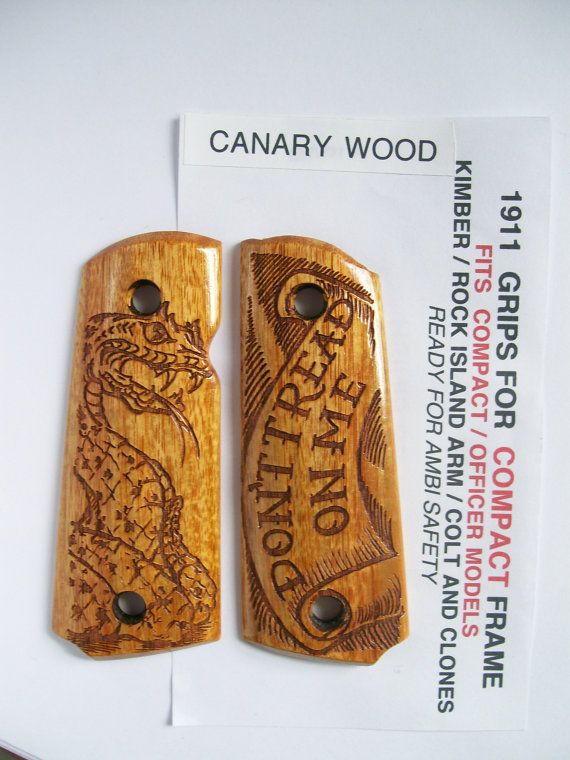 Hey, I found this really awesome Etsy listing at https://www.etsy.com/listing/172041883/compact-officer-1911-canary-wood-dont