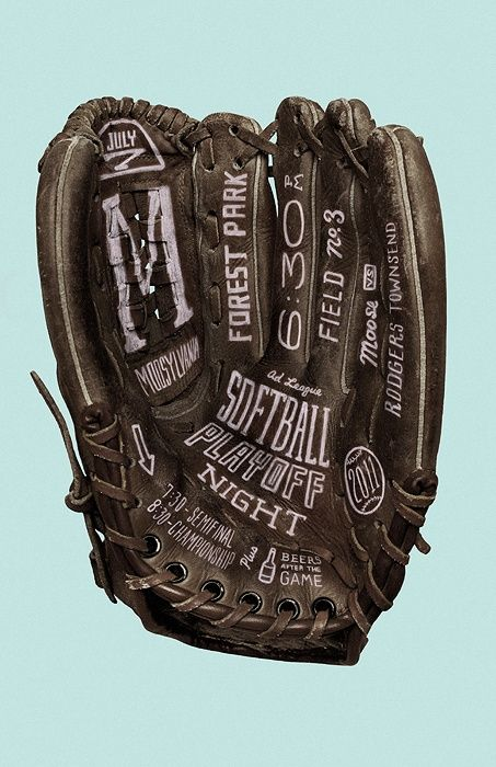 Softball Playoff Night by Jacob Etter #simple #cool #awesome #design #jablonskimarketing #marketing