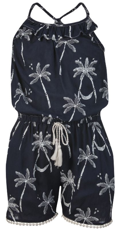 ab8ef19a810fb Midnight Palm Jumpsuit. This girls jumpsuit is a great swim coverup for  your beach ...