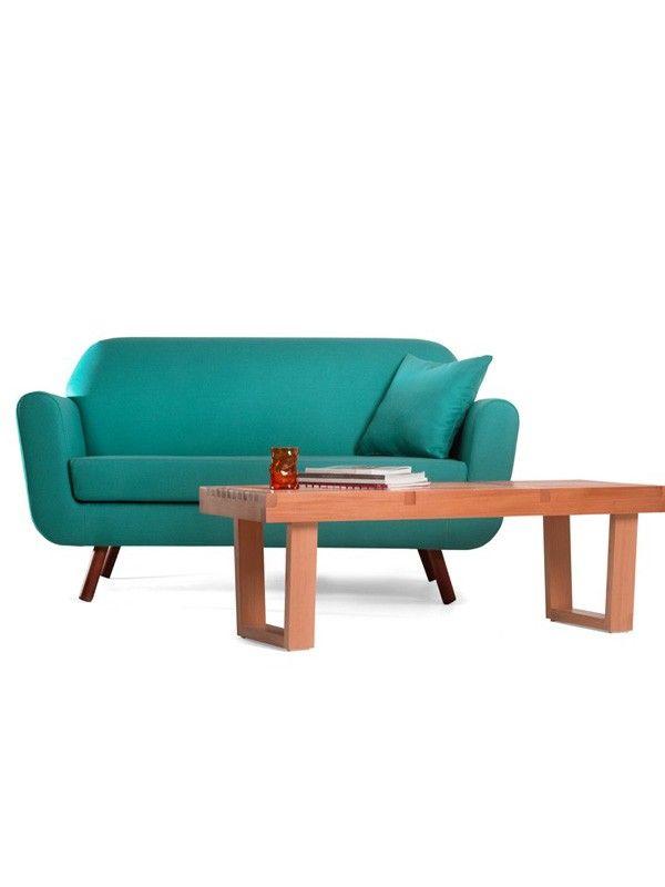 sofa rizzo 2er türkis - sofas und couches im retro-stil, Hause ideen