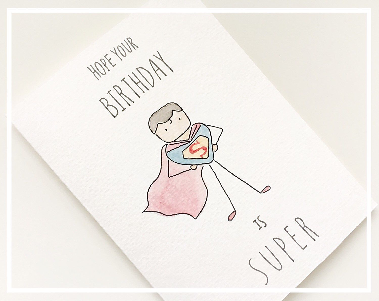 Goodbye card moving card goodbye greeting card funny card super man watercolor super man funny birthday card super hero birthday kristyandbryce Image collections