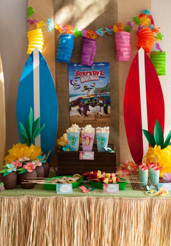 Mesa para todo mundo tirar onda na festa havaiana FESTA HAVAIANA Festa havaiana, Festa  -> Decoração Havaiana Simples