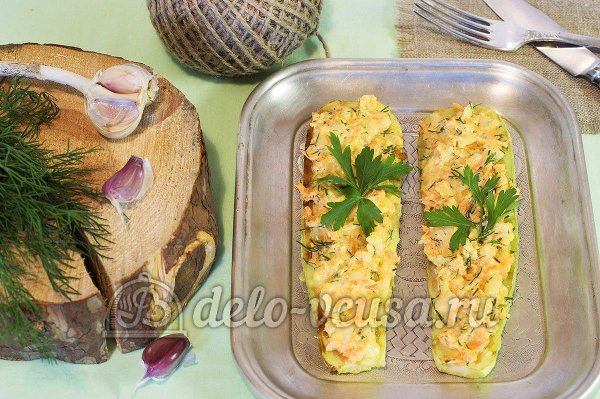 закуска из кабачков с чесноком и сыром