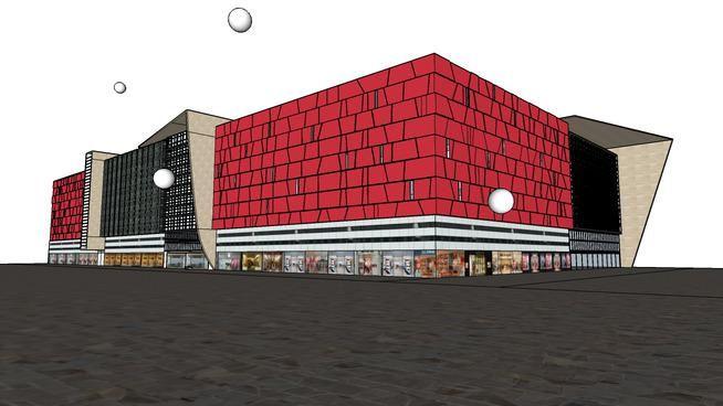 Big Market/Mall model on 3D Warehouse http://ow.ly/QliXy