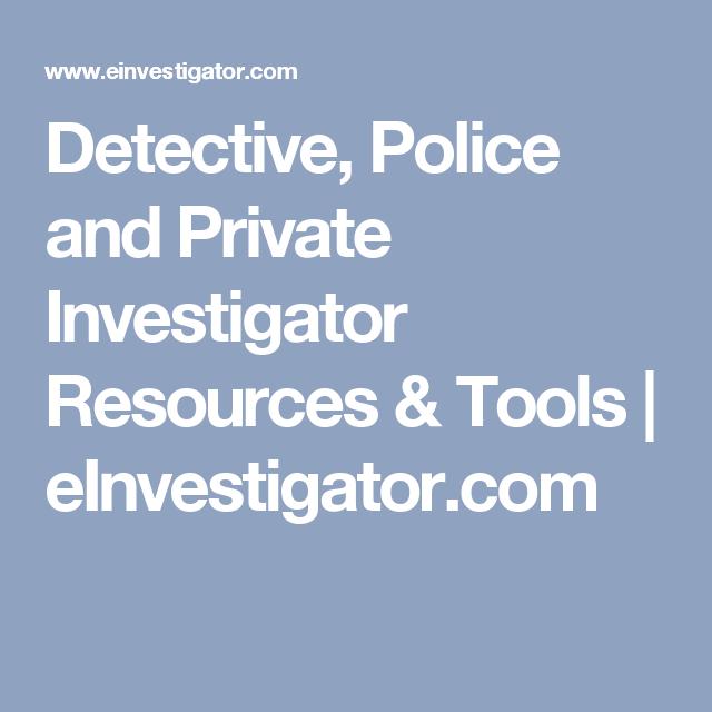 Private Investigator Research Tools Private Investigator Private Find People