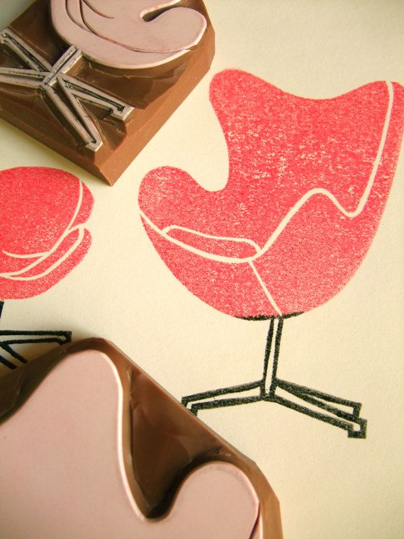 Egg chair stamp