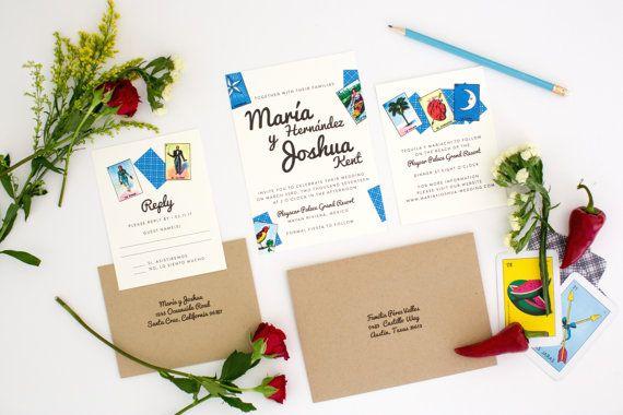 loteria wedding invitations loteria inspired by jpstationery