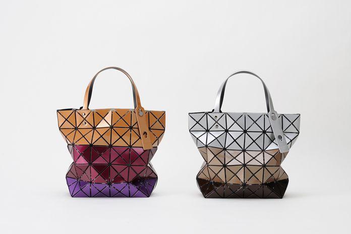 Bilbao Lucent metallic stripe Bao Bao Issey Miyake geometric shaped bags ef7cd887bc653