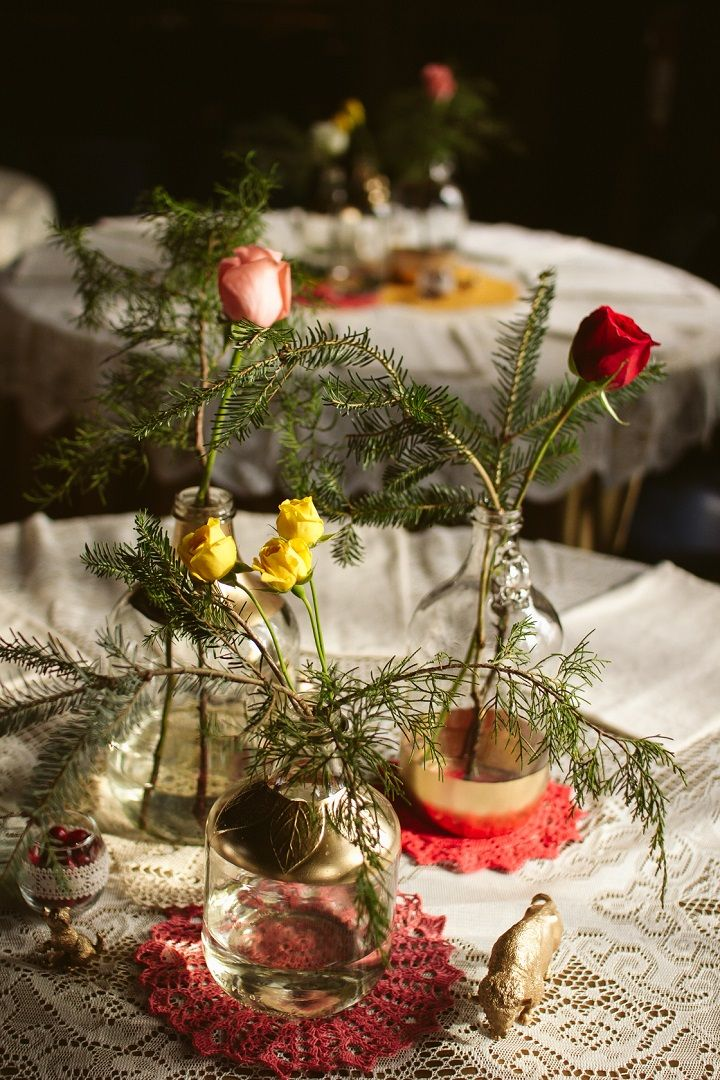 DIY Jewel Tones Quirky winter wedding centerpieces | fabmood.com #jeweltones #winterwedding #wedding #quirkywedding #diywedding