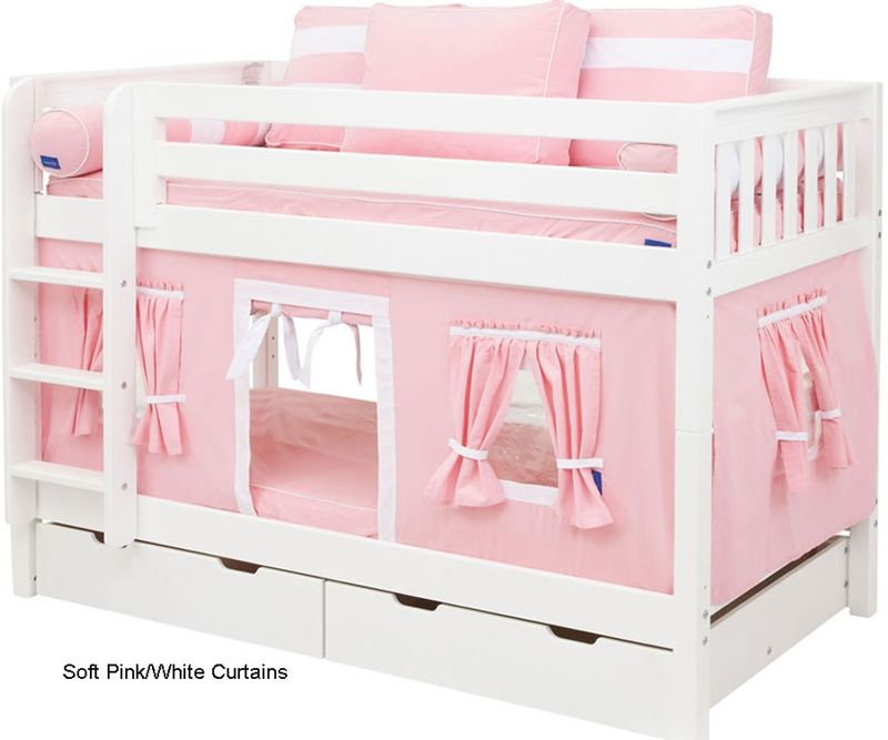 Bunk Bed Curtains Pink White