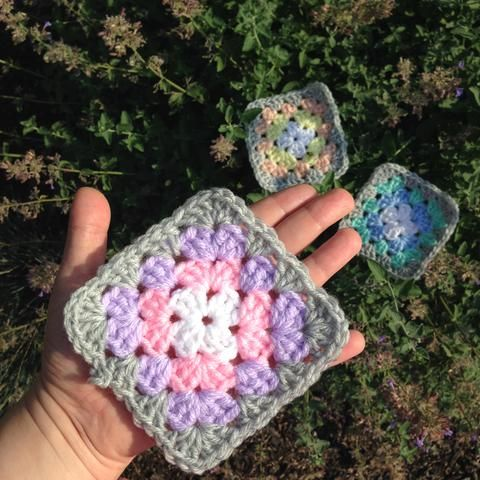 Granny Square Pattern For Crochet Beginner No Blocking Or Sewing In