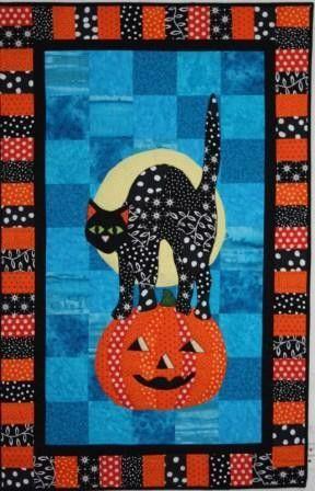 BJ Designs \u0026 Patterns Izzie Black Cat Halloween Applique