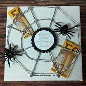 Sie brauchen nur nochIhr Geld unter das Spinnennetz schieben. Doch verschenken S... #spinnennetzbasteln
