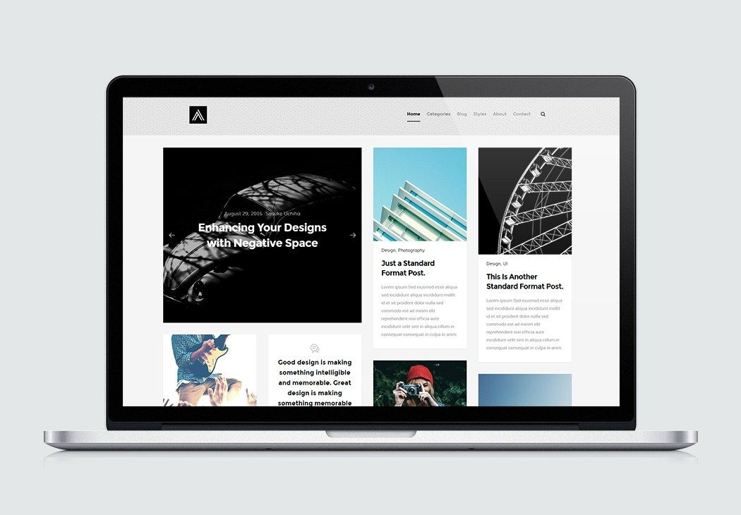 Blog Website Templates Abstract Is A Masonry Blog Website Template  Freebies  Pinterest