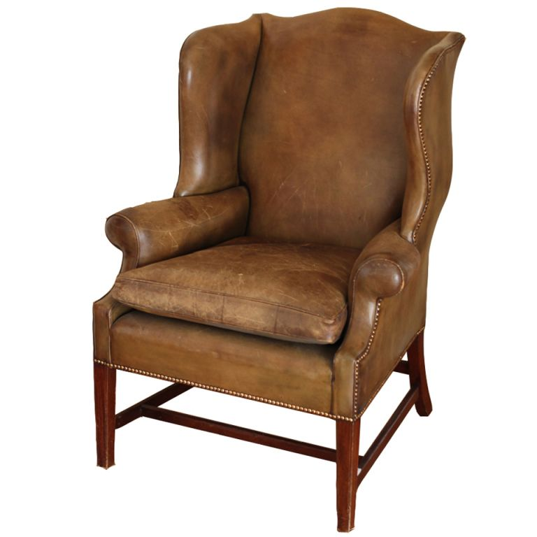 Exceptional Leather Wingback Chair
