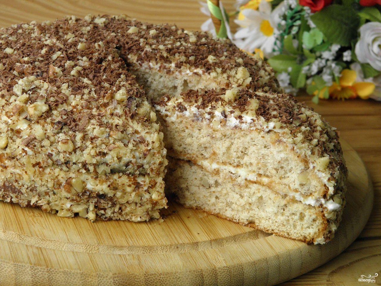 тосты рецепт простого бисквитного торта с фото когда видно