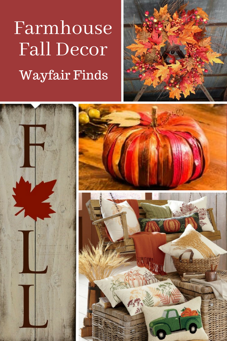 beautiful farmhouse fall decor finds at wayfair fall falldecor farmhouse farmhousedecor wayfair affiliate
