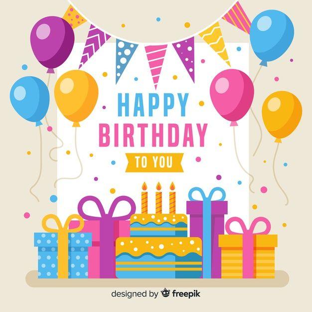 Birthday Background Design Vector Free Download