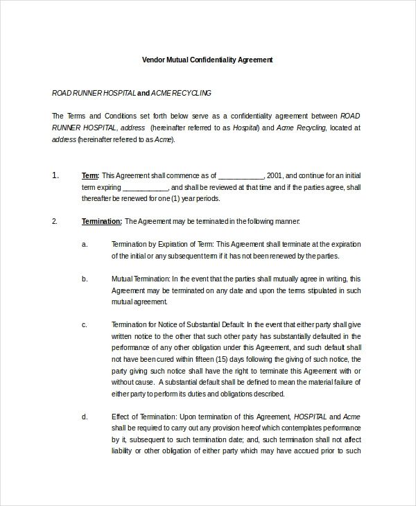 11+ Mutual Agreement Template (With Images)